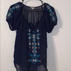 Stitch design blouse